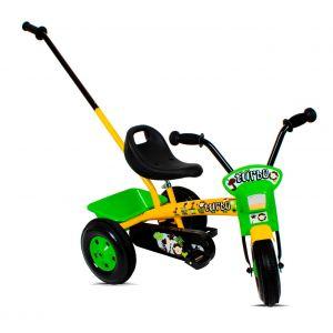 Tricycle enfant 3-6 ans avec barre à pousser
