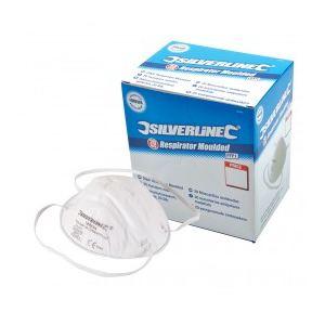 Silverline 868826 - Présentoir 20 masques moulés FFP1 usage unique