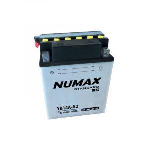Numax Batterie moto Standard avec pack acide YB14A-A2 12V 14Ah 175A