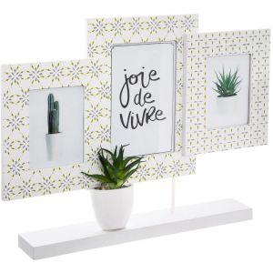"""Atmosphera Pêle-Mêle à Poser Relief """"Cactus"""" 36cm Multicolore"""