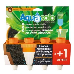 Aquasolo Lot de 4 Cônes d'Arrosage Orange Taille S