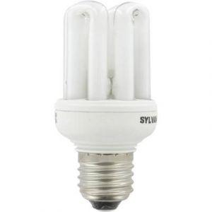 Sylvania Ampoule fluocompact Mini-Lynx Fast-Start T3 E27 - 20 W - blanc brillant - 4 000 K - boîte