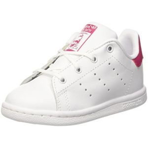 Image de Adidas Stan Smith Bébé Blanche Et Rose Baskets/Tennis Bébé