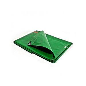 Bâches Direct Bache de protection 250 g/m² - 8 x 12 m - bache plastique - bache exterieur - bâches étanches - bache toiture - chantier