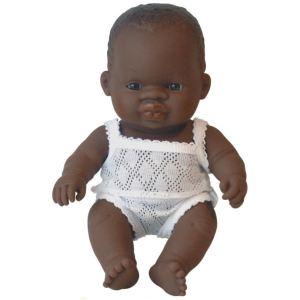 Miniland Baby Poupon garçon africain (21 cm)