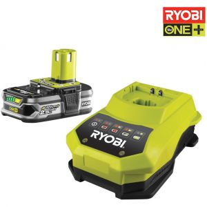 Ryobi One+ RBC18L25 - Batterie 2.5Ah + Chargeur Lithium-Ion 18V