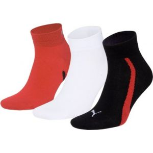 Puma Chaussettes -underwear Lifestyle Quarters 3 Pack - Black / White / Red - EU 35-38