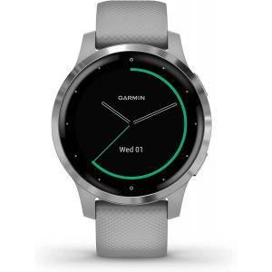 Garmin VIVOACTIVE 4S POWDER GREY/STAINLESS - Montre sport GPS