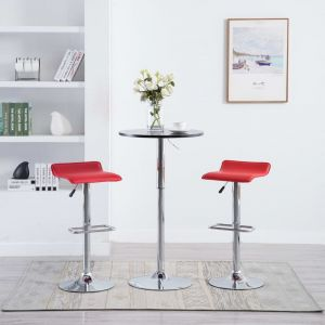 VidaXL Tabouret de bar 2 pcs Similicuir Rouge