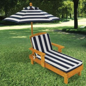 KidKraft KID00105 - Chaise longue avec parasol pour enfant