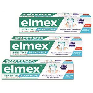 Elmex Sensitive Blancheur - Dentifrice au fluoure d'amines Olafluor