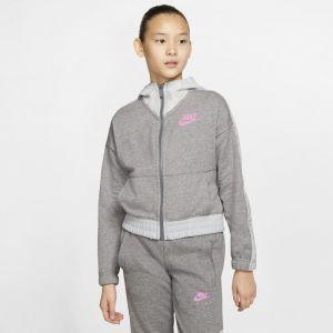 Nike Sweat Fz Air Gris / Blanc - Taille 14 Ans