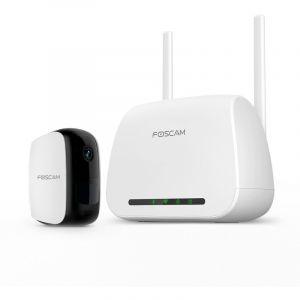 Foscam Caméra IP 100% sans fil et passerelle wifi E1