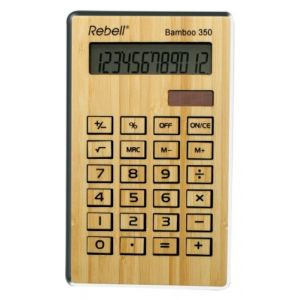 Rebell Bamboo 350 - Calculatrice de bureau écologique