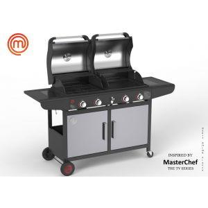 Weber MasterChef - Barbecue à gaz 2 brûleurs + plancha combo