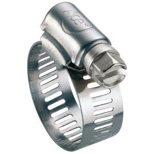 ACE Collier bande perforée W2 inox /acier zingué - 13 mm - Serrage 25 - 45 mm - Boîte de 25 pièces -