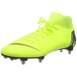 Nike Chaussure de footballà crampons pour terrain gras Mercurial Superfly VI Academy SG-PRO - Jaune - Taille 45 - Unisex
