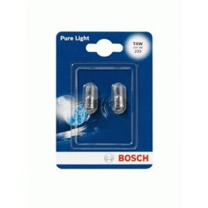 Bosch 2 Ampoules T4W Pure Light 12 V