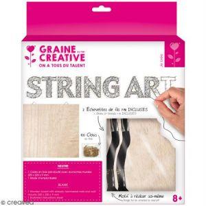 Graine Créative Kit tableau string art - Neutre - 22 x 22 cm