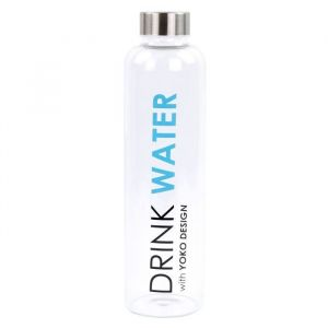 "Yoko Design Glass bottle ""Drink water"" - 750 ml"