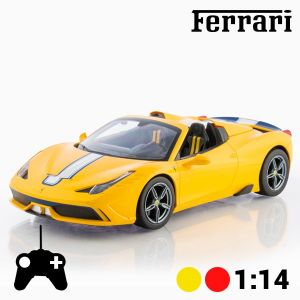 voiture t l command e ferrari 458 speciale 1 14 jaune comparer avec. Black Bedroom Furniture Sets. Home Design Ideas