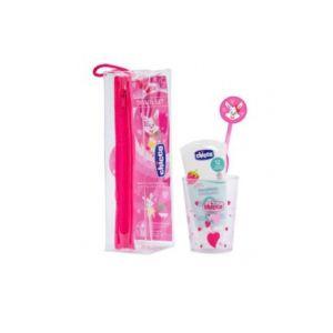 Chicco Ch Kit d'hygiène bucco-dentaire Rose 36M+ Ch