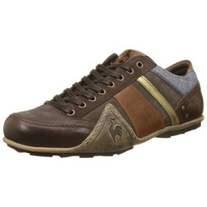 Le Coq Sportif Turin Leather/Chambray, Baskets Hommes, Marron (Reglisse), 41 EU