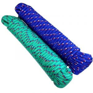 Aerzetix Lot de 2 bobines de corde fil à linge 7mm 20m couleurs variables