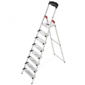 Hailo ProfiStep XXL - Escabeau 8 marches Haut. travail 3,46m Charge max. 150 kg