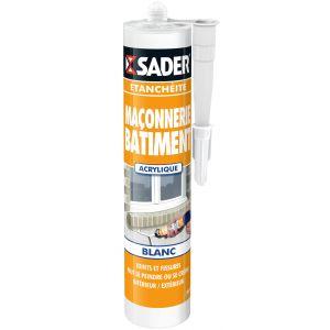 Sader Mastic maçonnerie blanc 310ml