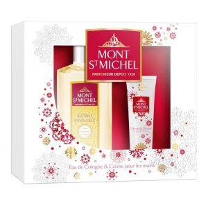 Mont St Michel Coffret 2 Produits Instant ensoleillé - Eau de Cologne flacon 250ml et Crème pour les mains 50ml