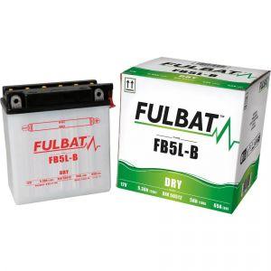 Fulbat Batterie YB5L-B 12V 5Ah 65A Longueur: 120 x Largeur: 60 x Hauteur: 130