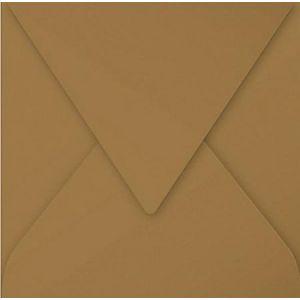 Pollen 29008C - Enveloppe 140x140, 135 g/m², Kraft naturel, en paquet cellophané de 20