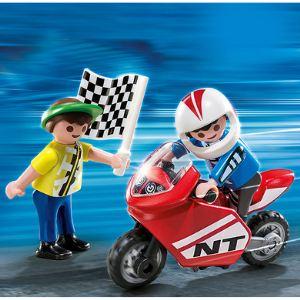 Playmobil 4780 Special Plus - Deux enfants et mini moto de course