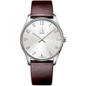 Calvin Klein Montre bracelet à quartz analogique cuir k4d211g6