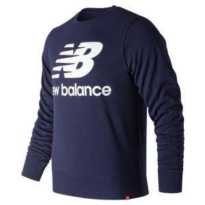 New Balance Sweat Stacked Logo Essentials Bleu marine - Taille M