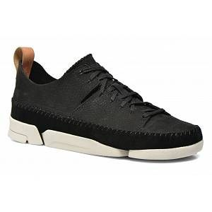 Image de Clarks Originals Trigenic Flex, Sneakers Basses Femme, Noir (Black Nubuck -), 42 EU
