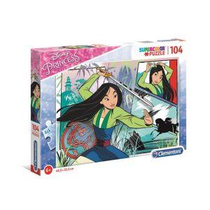 Clementoni Puzzle SuperColor 104 pièces Disney Princesses - Mulan