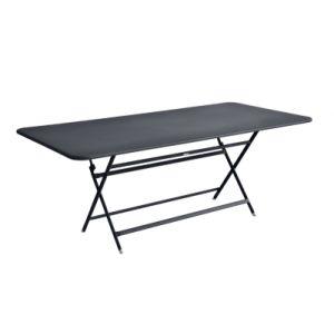 Fermob Table pliante Caractère / 90 x 190 cm - 8 à 10 personnes carbone en métal