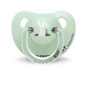 Suavinex Sucette physiologique silicone Happy Bunny 6-18 mois
