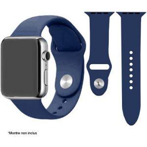 Ibroz Bracelet Apple Watch SoftTouch 44mm bleu nuit