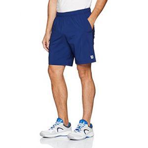 Wilson Homme Short de Tennis, M Team 8 Short, Polyester, Bleu (Blue Depths), Taille: XXL, WRA765503