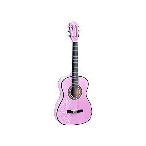 Guitare en bois 87 cm rose