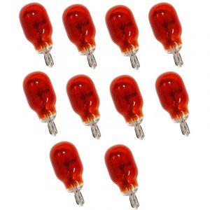 Aerzetix : Lot De 10 Ampoules Wy16w T15 12v 16w Ambré Orange