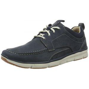 Clarks Orson Bay, Sneakers Basses Homme, Bleu (Navy Nubuck), 42 EU
