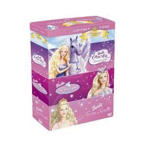 Coffret Barbie princesse 3 DVD : Le cheval magique + Le lac des Cygnes + Casse noisette