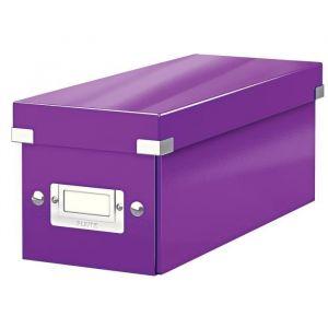 Leitz 6041-00-62 - Boîte de rangement Click & Store, format CD, en PP, coloris violet