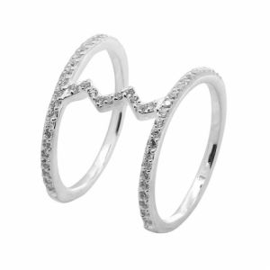 Canyon R4167 - Bague alliance multi-argent 925°