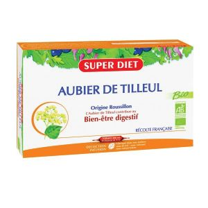 Super Diet Aubier de tilleul bio - 20 ampoules de 15 ml