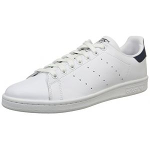 Adidas Originals Stan Smith - Baskets mode Mixte Adulte - Blanc (Running White/New Navy) - 43 1/3 EU